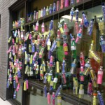 curtain of encouragement made from 350 bottles